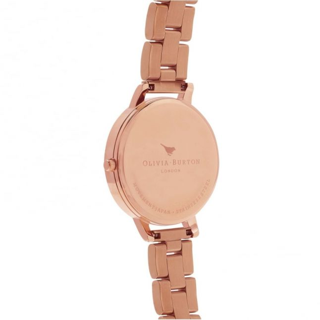 Womens Rose Gold Big Dial Bracelet Watch