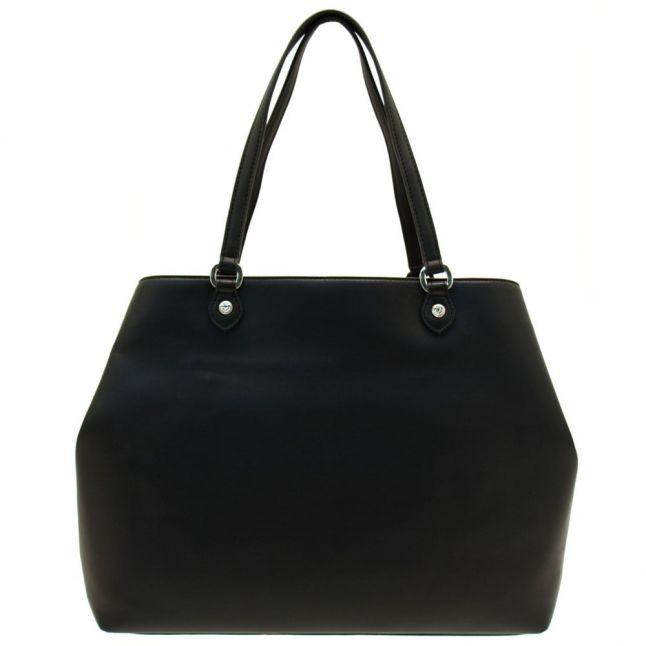 Womens Black Heart Shopper Bag