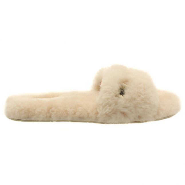 Australia Womens Natural Fluff Slide Slippers