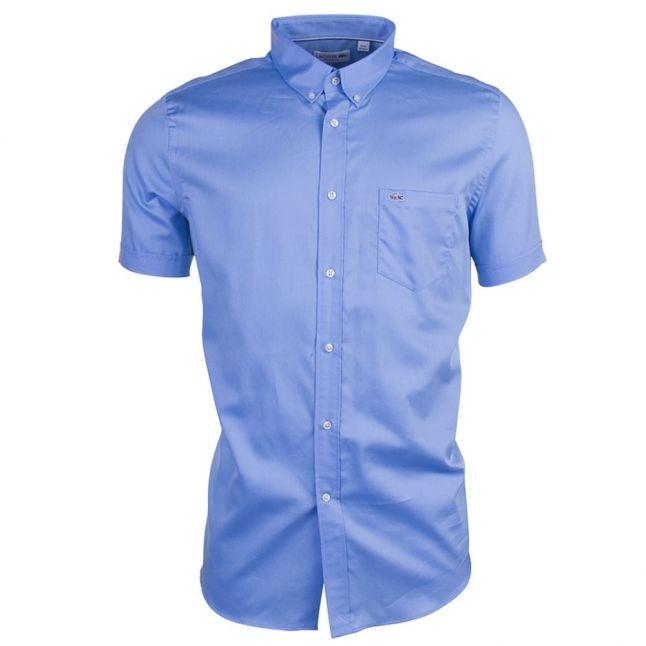 Mens Blue Branded S/s Shirt