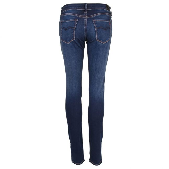 Womens Blue Mid Rise Luz Skinny Fit Jeans