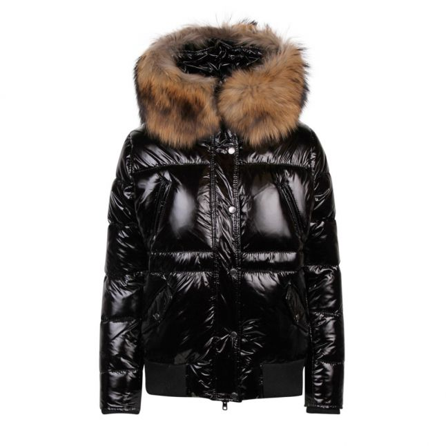 Womens Black/Natural B237 Quilted Bomber Jacket