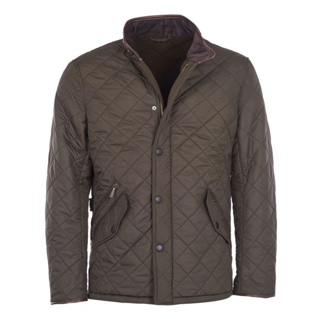 Mens Olive Powell Quilted Jacket