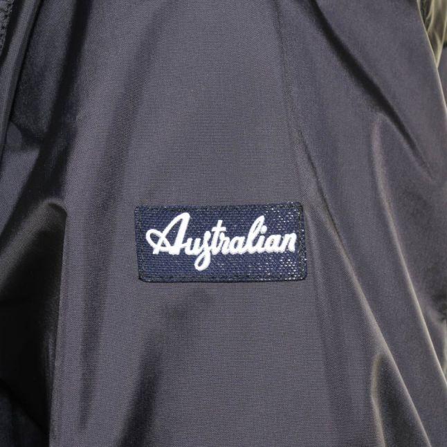 Mens Navy Branded Zip Through Jacket