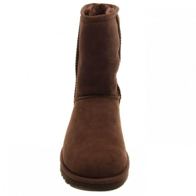 Womens Chocolate Classic Short Boots