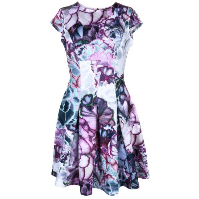 Womans Purple Mah Illuminated Bloom Dress
