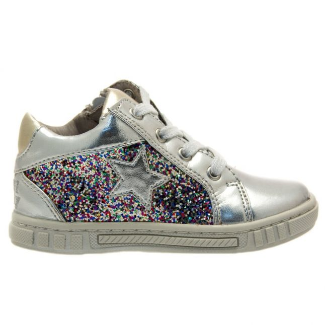 Girls Silver Charlotte Trainers (21-26)
