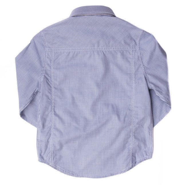 Boys Blue Branded Check L/s Shirt