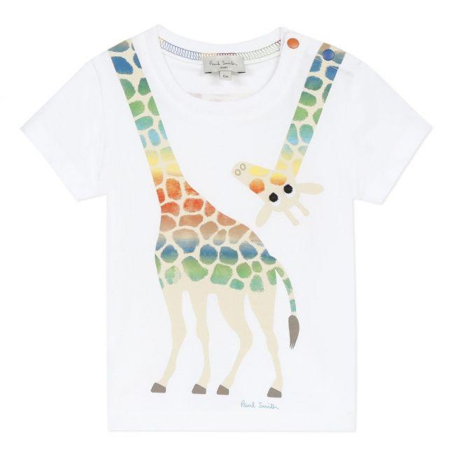 Baby White Azico Giraffe S/s T Shirt