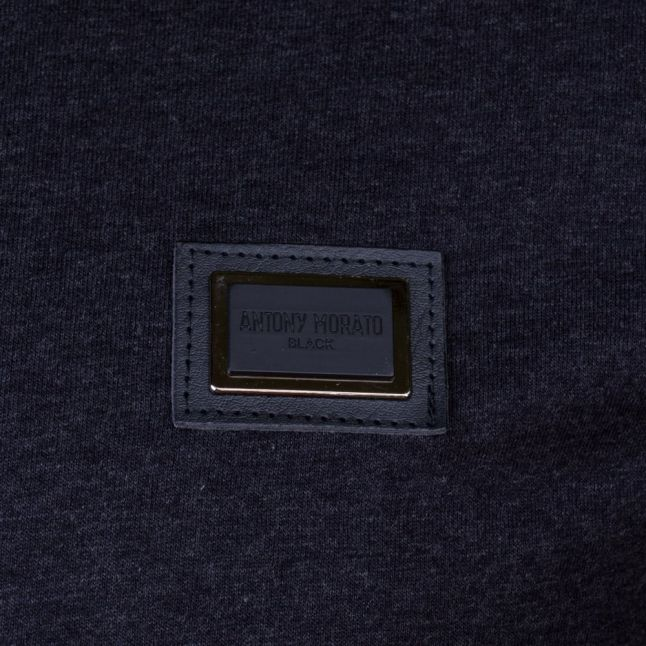 Mens Dark Grey Melange Black Label Badge S/s Tee Shirt