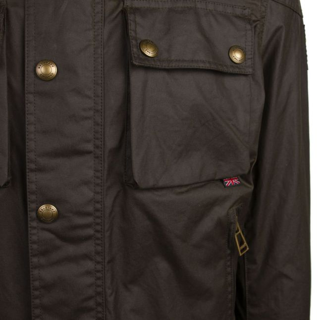 Mens Faded Olive Racemaster 6oz Waxed Jacket