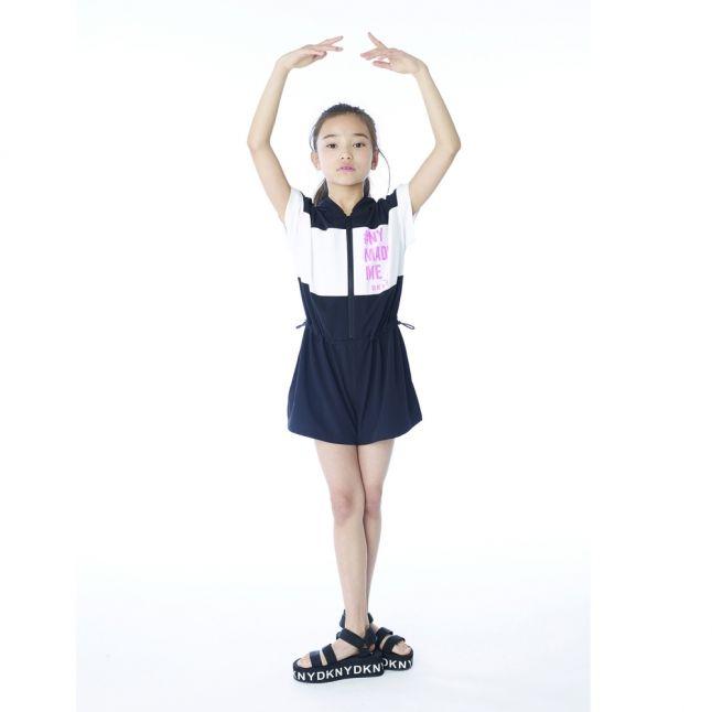 Girls Black Branded Flatform Sandals (30-37)