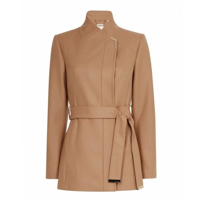 Womens Camel Drytaa Short Wool Coat