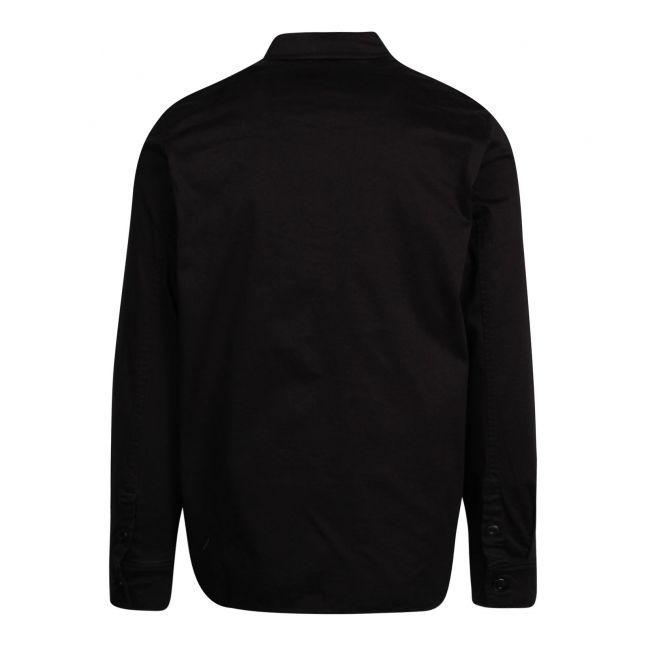Mens Jet Black Two Pocket L/s Shirt