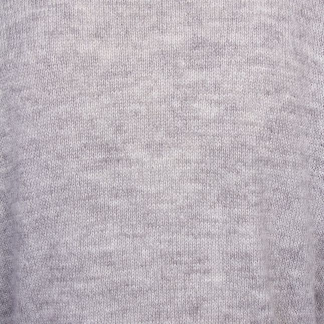 Womens Light Grey Melange Visuril Knitted Tunic