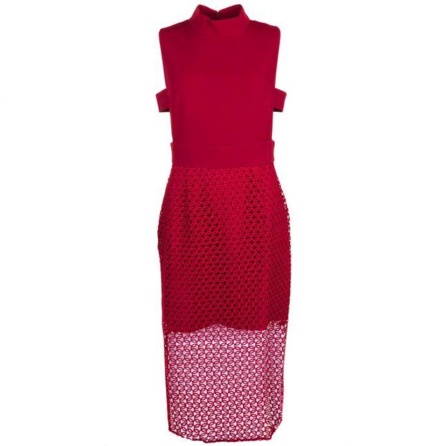 Womens Oxblood Star Midi Dress