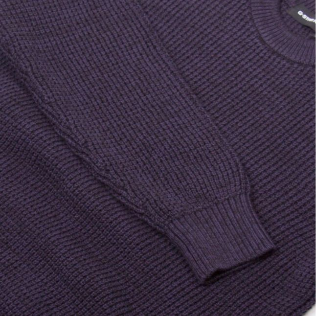 Mens Dark Saru Blue Jayvi Crew Knitted Jumper