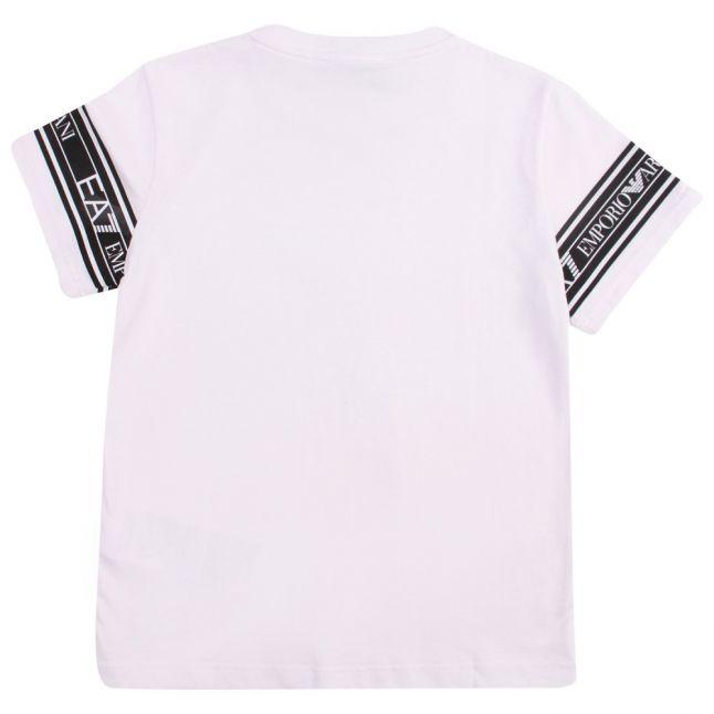 Boys White Train Graphic Tape Series S/s T Shirt