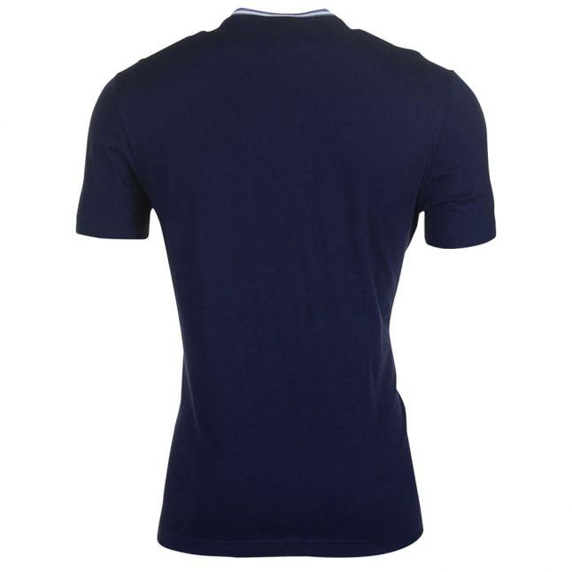 Mens Navy Taped Crew S/s Tee Shirt