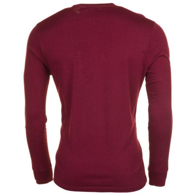 Mens Bordeaux Logo Pocket L/s Tee Shirt