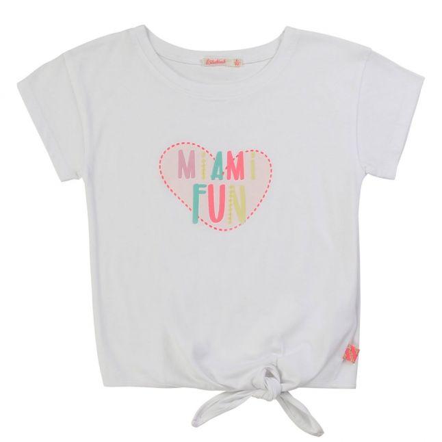 Girls White Miami Fun S/s T Shirt