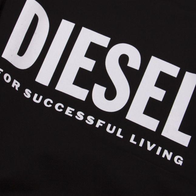 Mens Black S-Gir Division Logo Sweat Top