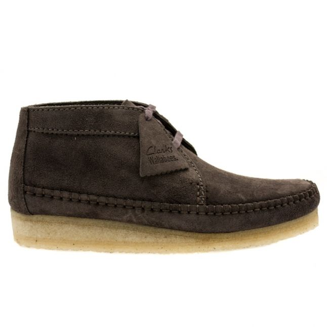 Mens Charcoal Suede Weaver Boots