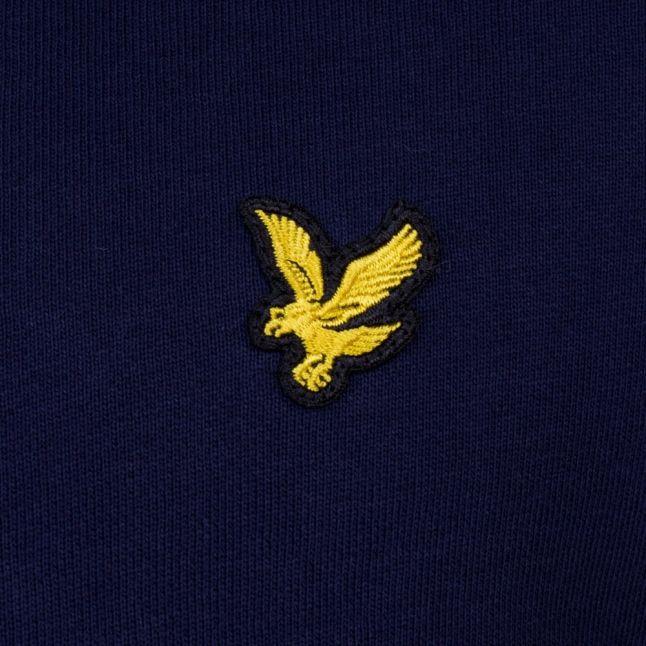Mens Navy Zip Through Hooded Jacket