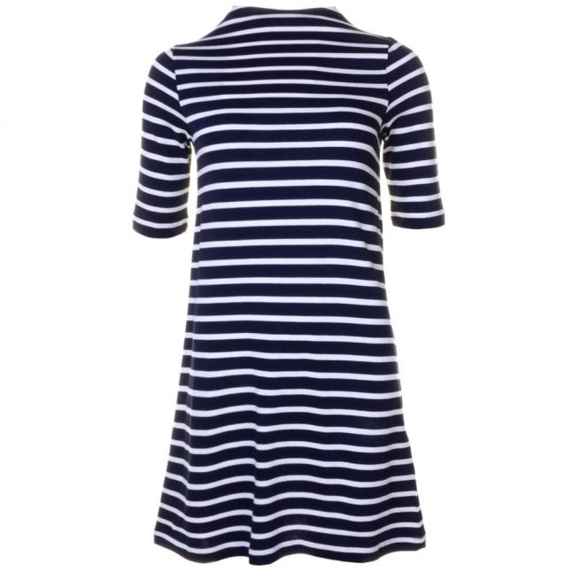 Womens Nocturnal & Cream Terry Stripe S/s Dress