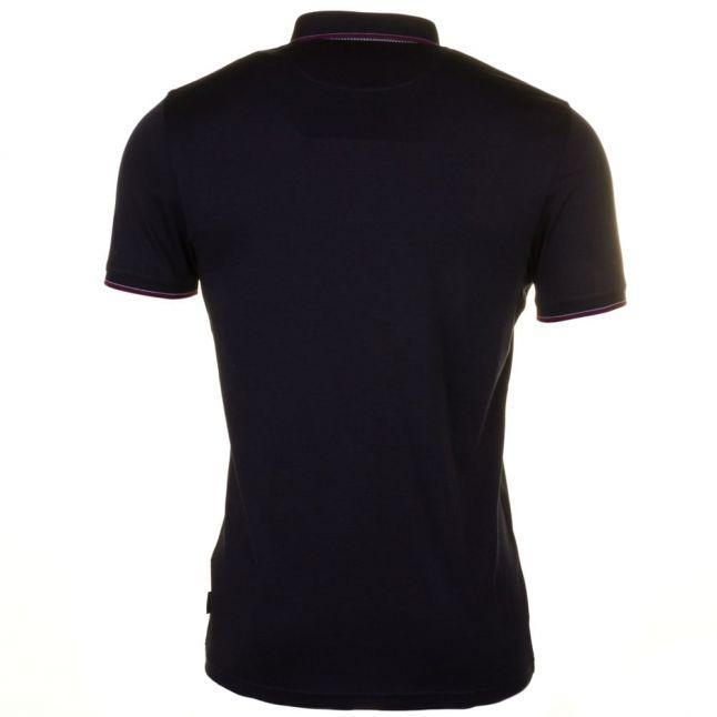 Mens Navy Kiwi Tipped Pocket S/s Polo Shirt