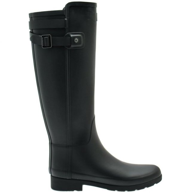 Womens Black Original Refined Black Strap Wellington Boots