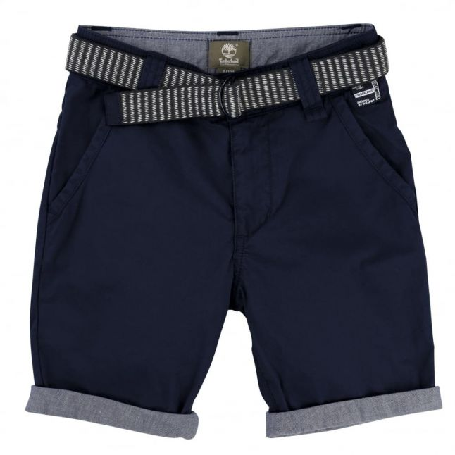 Boys Navy Shorts & Belt