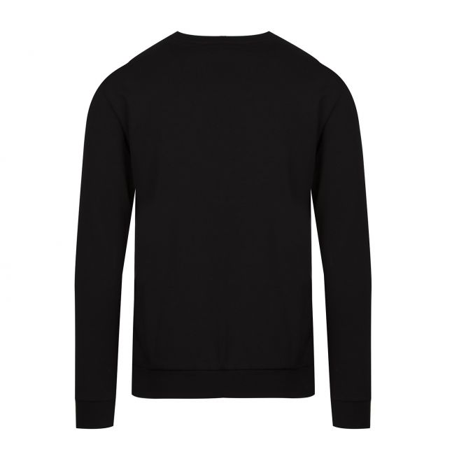 Calvin Klein Mens Black Nylon Pocket Crew Sweat Top