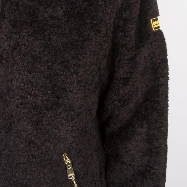 Womens Black Langstone Casual Teddy Jacket