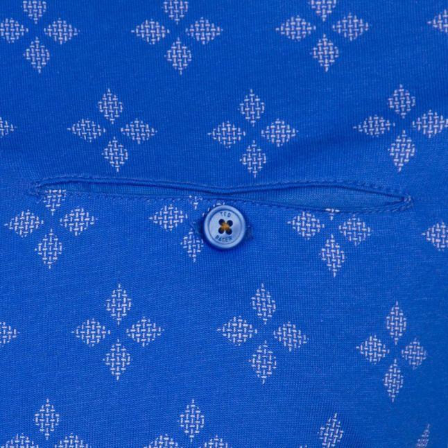 Mens Blue Fella Geo S/s Polo Shirt
