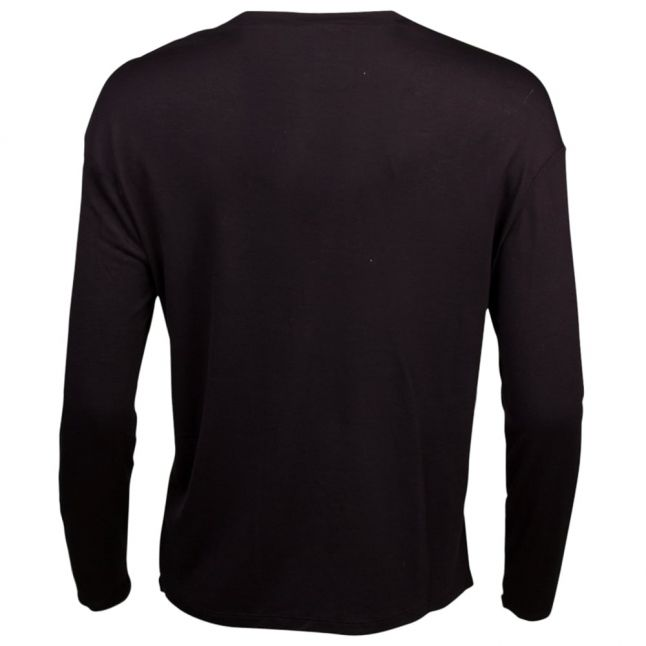 Womens Black Circle Logo L/s T Shirt