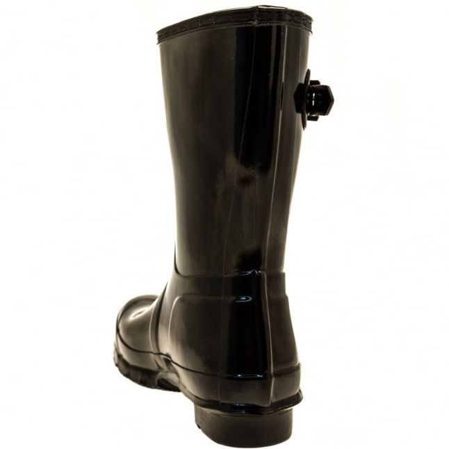 Womens Black Gloss Original Short Wellington Boots