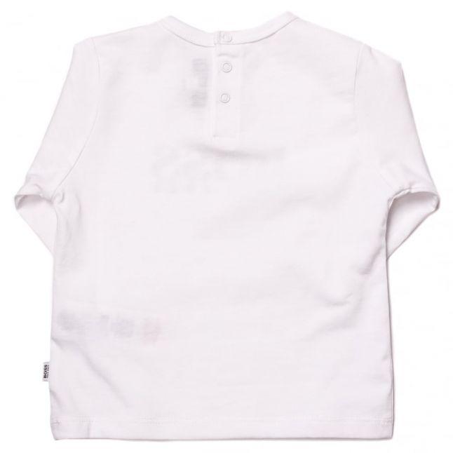 Baby White Basic Branded L/s Tee Shirt