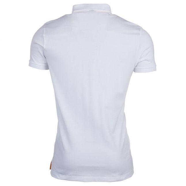Paul & Shark Mens White Shark Fit S/s Polo Shirt