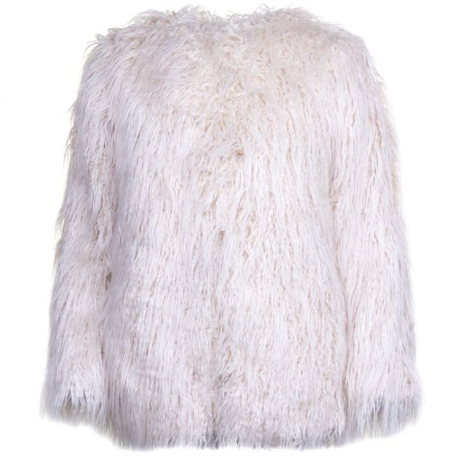 Womens Classic Cream Marissa Faux Fur Coat