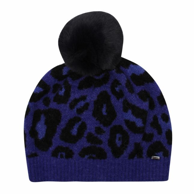 Womens Dark Blue Hynie Animal Bobble Hat
