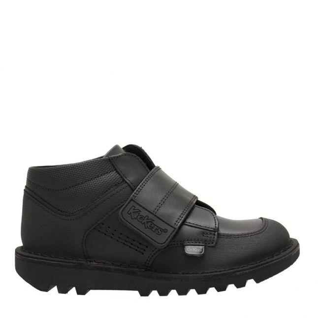 Junior Black Kick Mid Scuff Shoes (12.5-2.5)