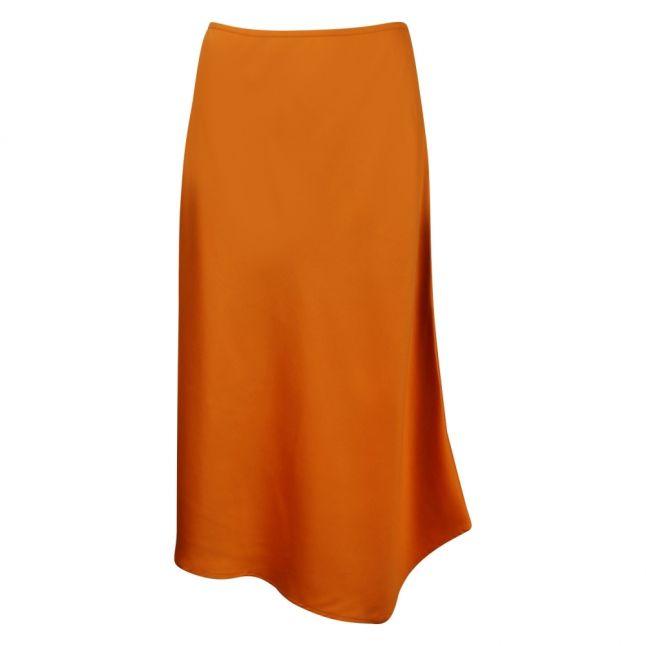 Womens Golden Oak Ezmay Drape Midi Skirt