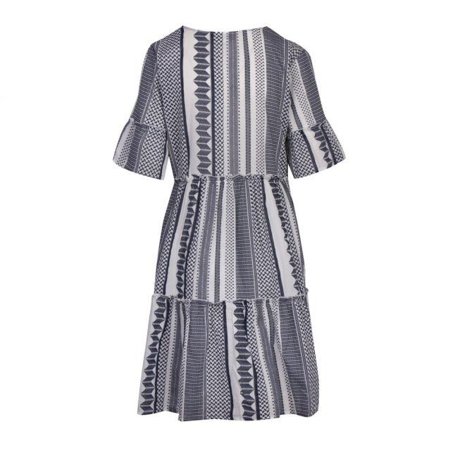Womens Snow White/Navy Vihannas Tiered Dress