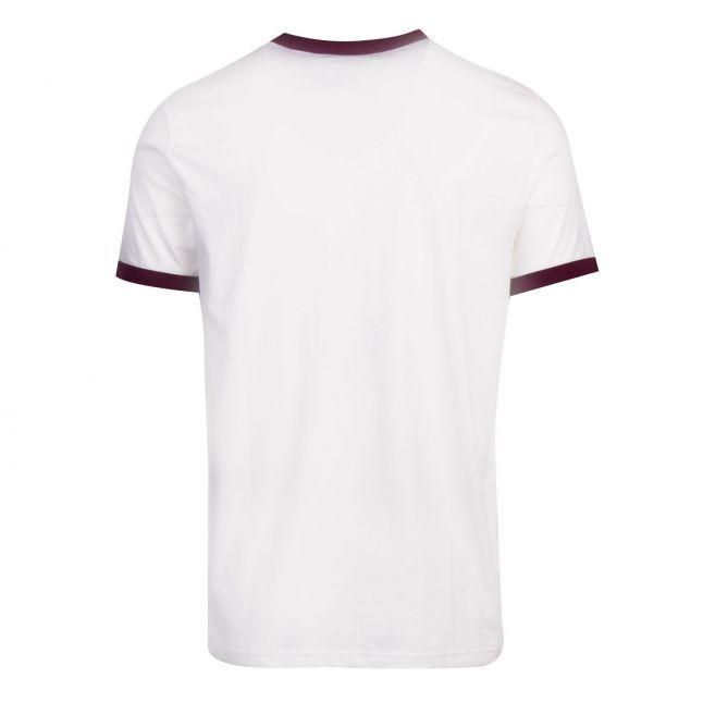 Mens Snow White Ringer S/s T Shirt