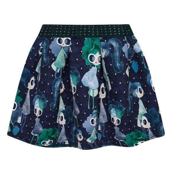 Girls Green Doll Skirt