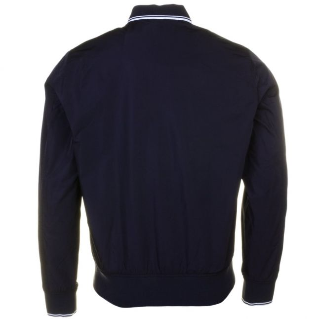 Mens Navy Twin Tipped Bomber Jacket