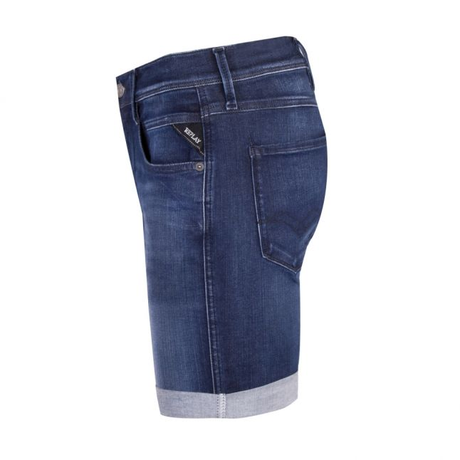 Mens Dark Blue Hyperflex Denim Shorts