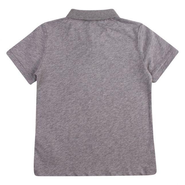 Boys Medium Grey Train 7 Lines S/s Polo Shirt