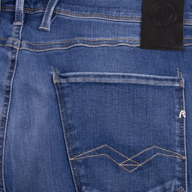 Mens Medium Blue Anbass Hyperflex Bio Slim Fit Jeans